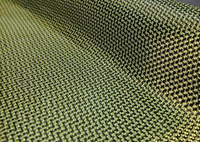 Carbon fibre / kevlar hybrid cloth