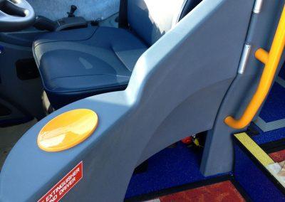 Coach driver's door - textured finish